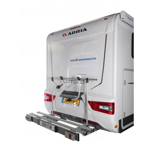 Revo star porte v lo pliable pour camping car avec led - Porte velo electrique pour camping car ...